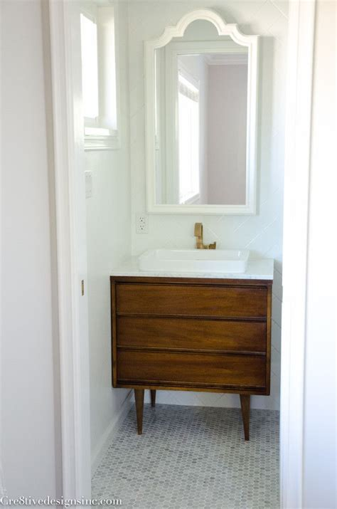 Modern Small Bathroom Vanities by A Tiny Bathroom Gets A Remodel Using A Mid Century Modern