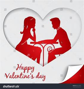 St Valentines Day Greeting Card Couple Stock Vector ...