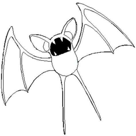 Kleurplaat Zubat by Coloring Page 041 Zubat Coloring Pages