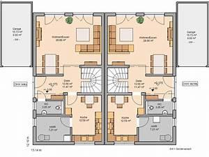 Lageplan Erstellen Online : grundriss doppelhaush lfte ~ Markanthonyermac.com Haus und Dekorationen
