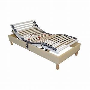 Lit Sommier 90x190 : sommier lit electrique 90x190 de relaxation ~ Teatrodelosmanantiales.com Idées de Décoration