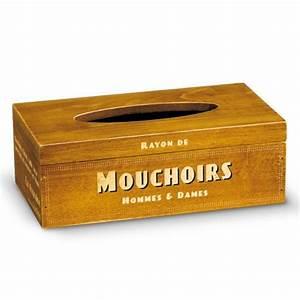 Bote Mouchoirs En Bois Natives Dco Rtro Et Vintage