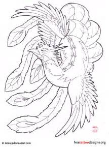 Japanese Phoenix Tattoo Drawing