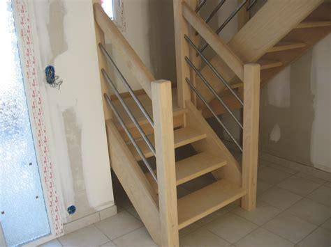 escaliersbois64800 escalier avec palier intermaidiaire bois exotique clair quot tauari quot
