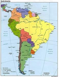 Informativo Colombiano Mapa de Sur América