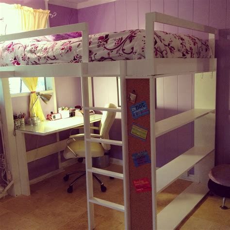 cheap loft beds with desk white loft bed diy projects