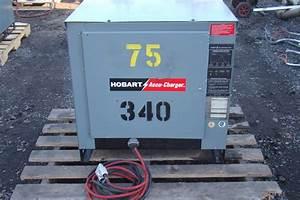 Hobart 3 Phase 24v Forklift Battery Charger 208  240  480v