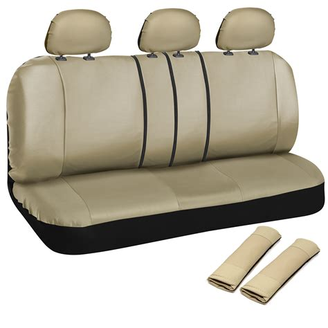 leather bench seat car seat cover 8pc set bench for auto w belt pads