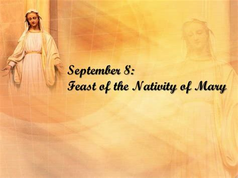 september  feast   nativity  mary powerpoint  id