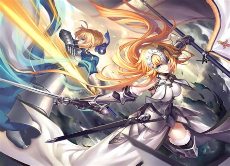 anime all fight anime anime fate series saber sword fighting
