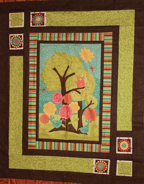chickadee shops frolic panel quilt