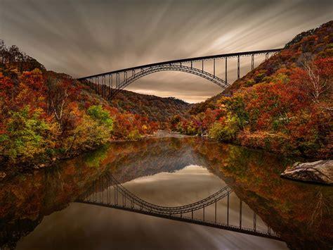 arch bridge  victor fayette county west virginia