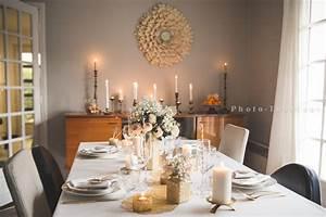 Deco Noel Blanc : decoration table noel noir et or ~ Teatrodelosmanantiales.com Idées de Décoration