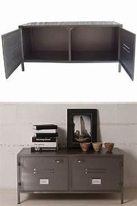 meuble tv industriel pas cher le top10 With deco cuisine pour meuble tv verre
