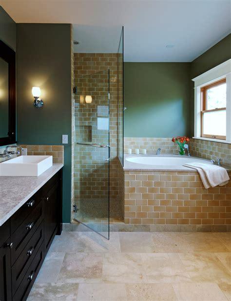 Corner Tub Bathroom Designs by Corner Bathtub Shower Bathroom Contemporary With None
