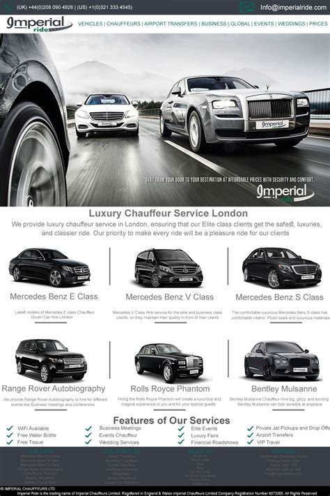 Luxury Chauffeur Service by Luxury Chauffeur Service Ucollect Infographics