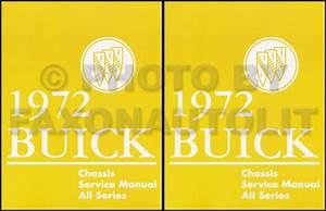 1972 Buick Repair Shop Manual Original Gs  Skylark  Riviera  Lesabre