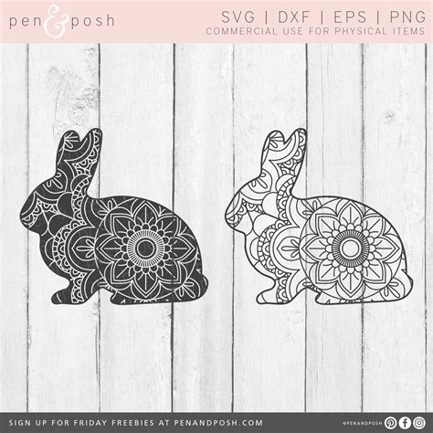 Get your little ones' easter buckets labelled and ready with this set of split bunny monogram svg files with hand drawn pattern fills. 3D Bunny Mandala Svg Project - Layered SVG Cut File ...