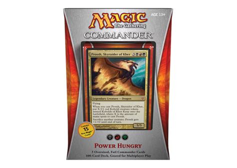 Magic The Gathering Prossh Commander Deck by Monday Morning Magic The Gathering Commander 2013 Boxes