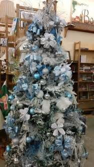 gorgeous ice blue themed christmas tree blue and silver christmas trees pinterest