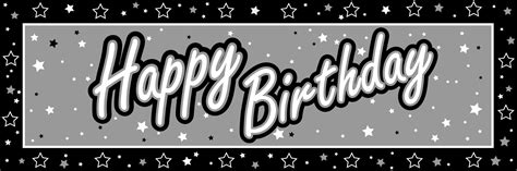 happy birthday banner black and whitenokiaaplicaciones com nokiaaplicaciones com