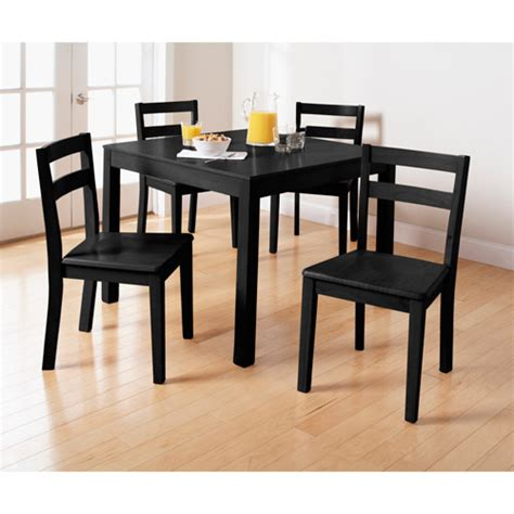Dining Room Sets At Walmart by Mainstays Parsons 5 Dining Set Black Walmart