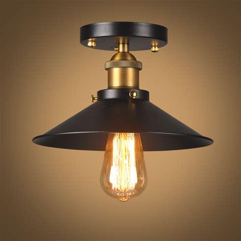 black kitchen light fixtures vintage ceiling light black ceiling l industrial flush 4708