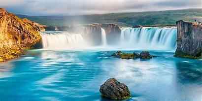 Waterfall Godafoss Shutterstock Goðafoss Money Iceland Water