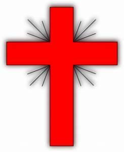 Glow Cross Red-grey Clip Art at Clker.com - vector clip ...