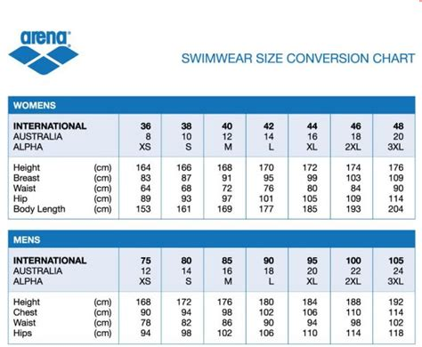 adidas swimsuits size guide helvetiq