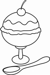 Ice Cream Sundae Clip Art Black And White | Clipart Panda ...