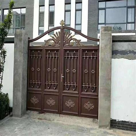wholesale simple iron gate grill designs aluminum swing gate  malibabacom iron gate