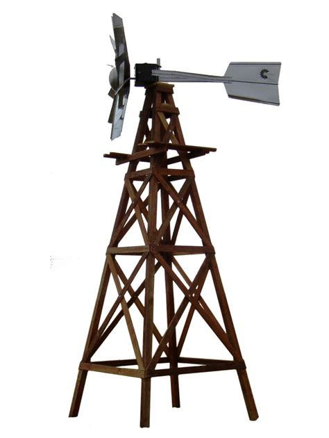 outdoor water solutions wood windmill kit galvanized