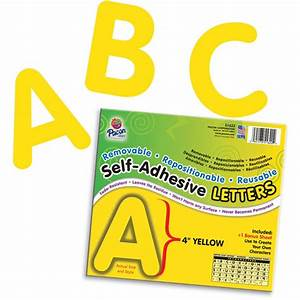 self adhesive letter 4in yellow pac51622 pacon With self adhesive letters