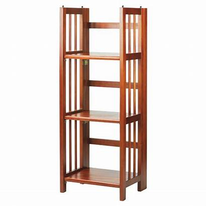 Bookcase Folding Shelf Shelves Stackable Casual Oak