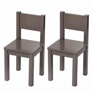 Chaise Bois Enfant : chaises enfant x2 bois massif taupe deco chambre activites montessori ~ Teatrodelosmanantiales.com Idées de Décoration