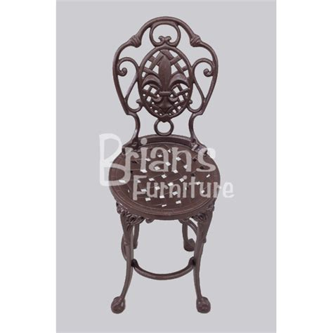 fleur de lis chair outdoor furniture cast aluminum