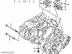 suzuki rmx250 1990 l parts list partsmanual partsfiche With diagram of suzuki motorcycle parts 1985 rm250 transmission diagram