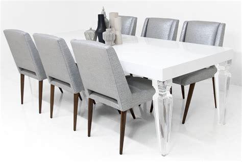 modern dining table legs palm beach lucite leg dining table modshop