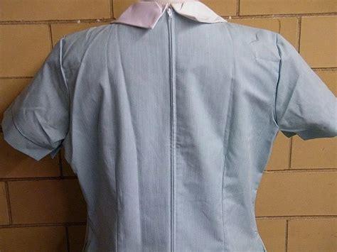 Student Nurse's Uniform...bib Front..aqua / White Cord