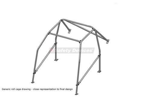 Datsun 510 Roll Cage by Datsun 510 Post 1968 6 Point Bolt In Roll Cage Safety