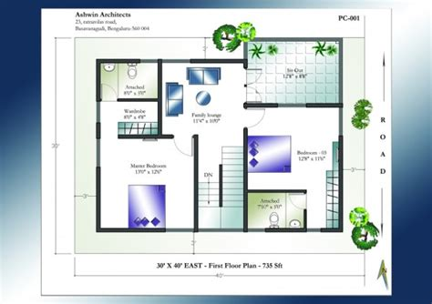 open floor plan house 30 x 40 house plans east facing house plan home plans