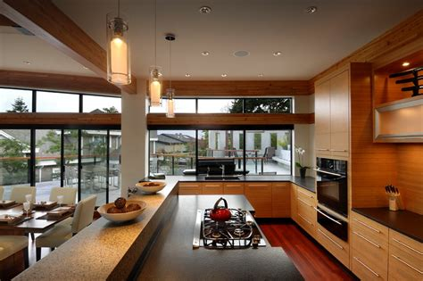 kitchen floor  ceiling windows modern home  victoria