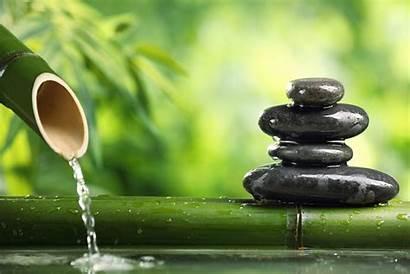 Bamboo Water Zen Stones Mind Balance Stems
