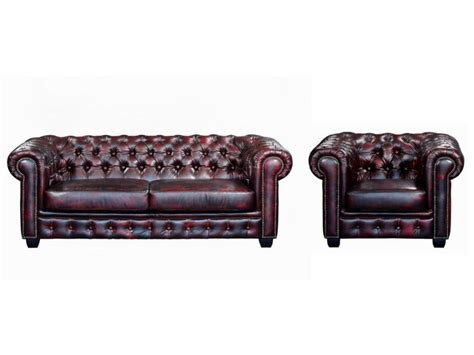canap chesterfield 2 places cuir canapé et fauteuil chesterfield 100 cuir de buffle brenton