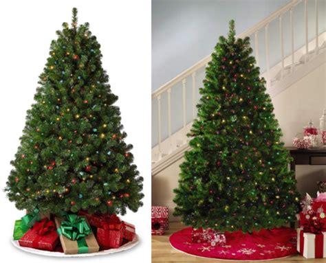 kmart christmas trees pre lit 49 99 reg 160 6 5 pre lit buren pine tree free shipping