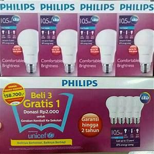 Jual Lampu Led Philips 10 5 Watt Paket Beli 3 Gratis 1 Di
