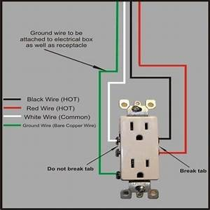 Electrical Outlet Wiring Red Black And White
