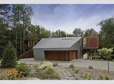 Modern Massachusetts Forest House With TwoStory Ceilings