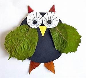Aus Blättern Basteln : bastelideen im herbst mit herbstbl ttern basteln ~ Lizthompson.info Haus und Dekorationen
